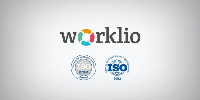 Worklio and ISO certification logos